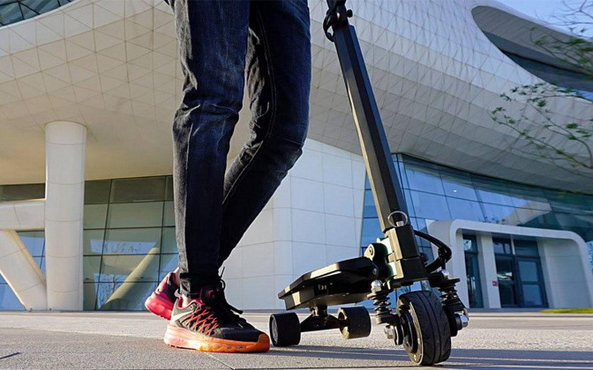 一个可以装进背包的电动滑板车,试试用这个通勤?-唯轮网