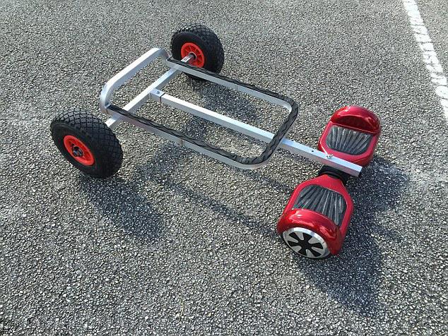 美帝把扭扭车改装成4轮代步车-唯轮网