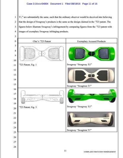 杭州骑客在美起诉Swagway智能平衡车专利侵权-唯轮网