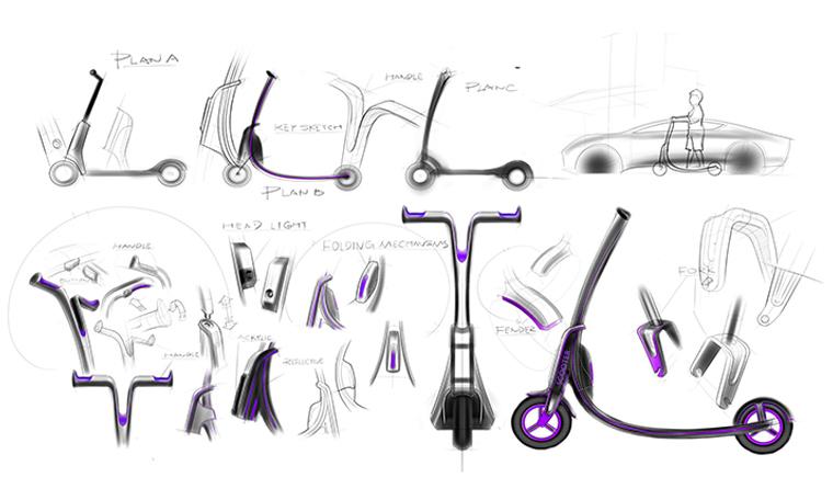 淘宝众筹上又发现一款高颜值的碳纤维滑板车-唯轮网