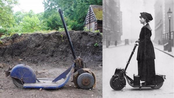 100年前的滑板车被拍卖,估价1000多美元