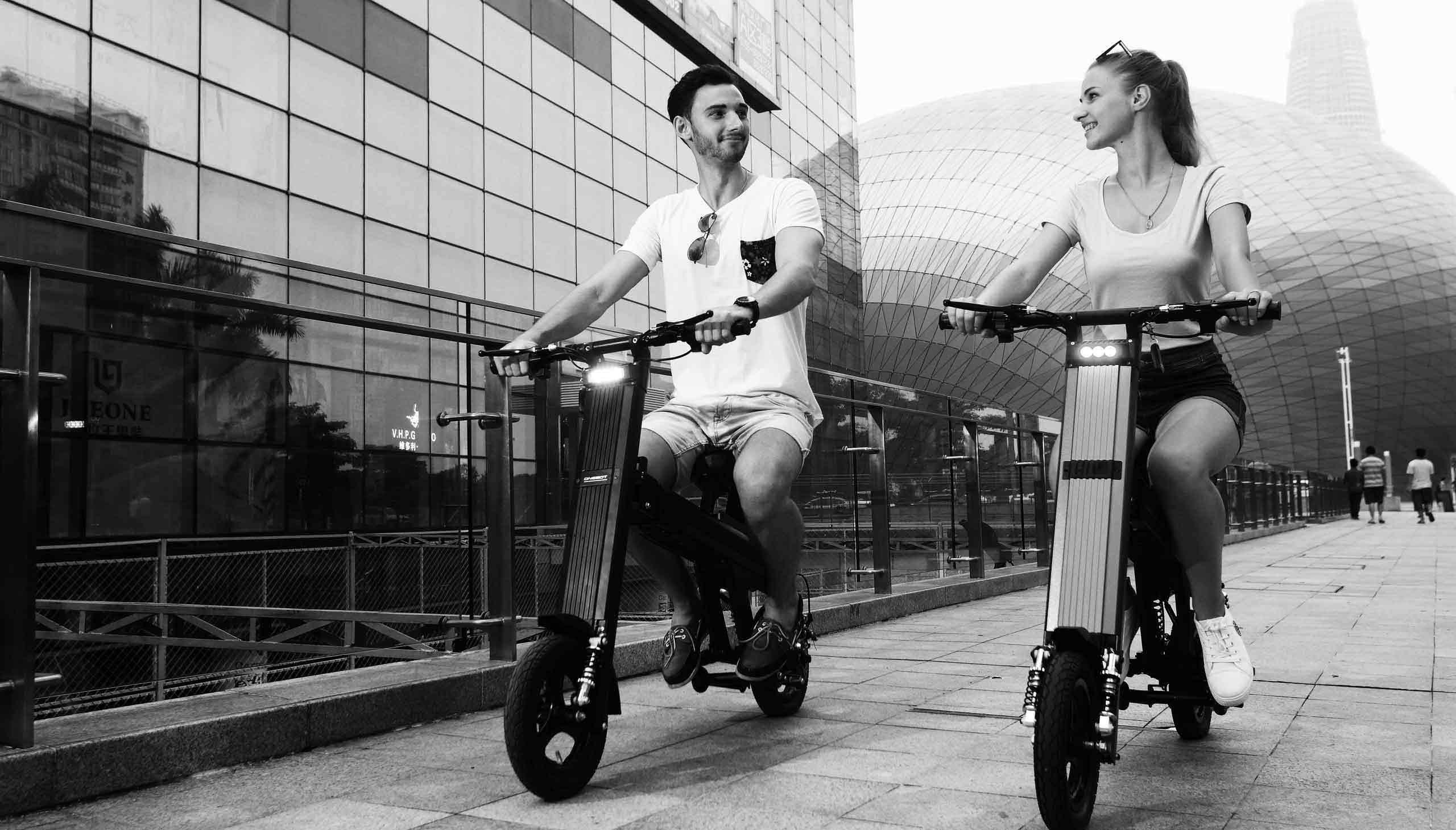 还在骑脚踏车到筋疲力尽吗?来试试电动自行车吧!