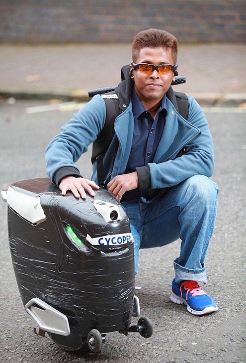 英国小伙发明独轮车Cycoped,靠意念驾驶,怎么做到的?-唯轮网