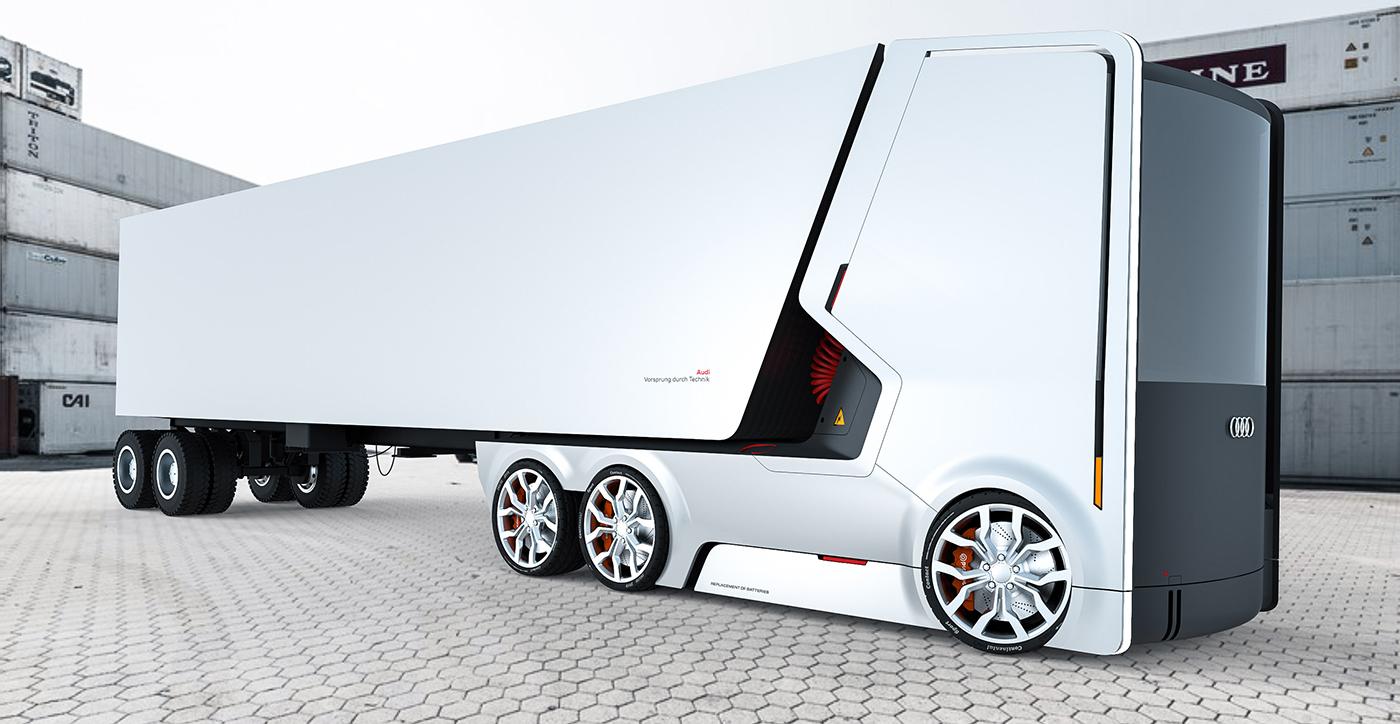 卡车还能长这样?奥迪未来概念卡车,颠覆笨重形象,还能自动驾驶-唯轮网