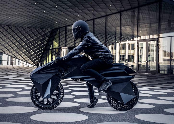 世上首个3D打印的电动摩托车诞生-唯轮网