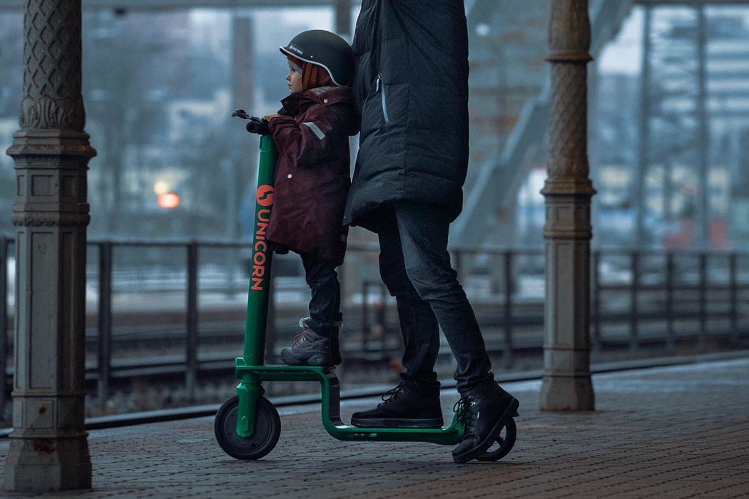 可以载货物和小孩的共享滑板车-唯轮网