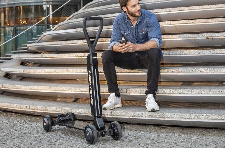 奥迪推出价值2000美元的电动滑板车,用起来就像在人行道冲浪?-唯轮网