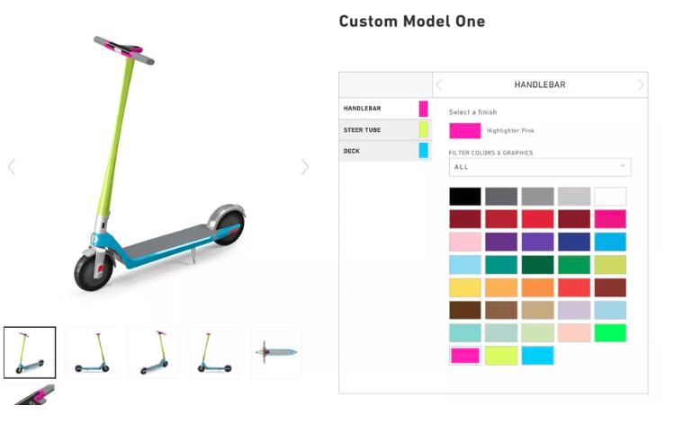 Unagi,售价990美元的电动滑板车功能越来越强大,个性化选择也越来越丰富-唯轮网