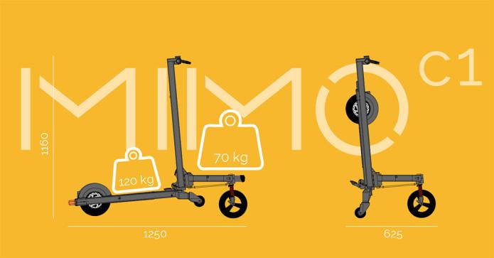 手推车与电动滑板车的结合体,MIMO-C1-唯轮网