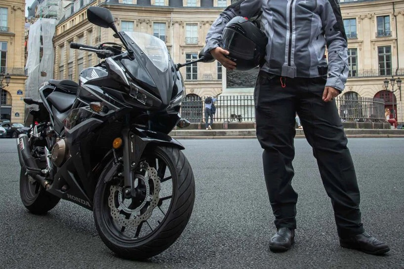 只有头盔还不够,法国设计师打造的气囊骑行服-唯轮网