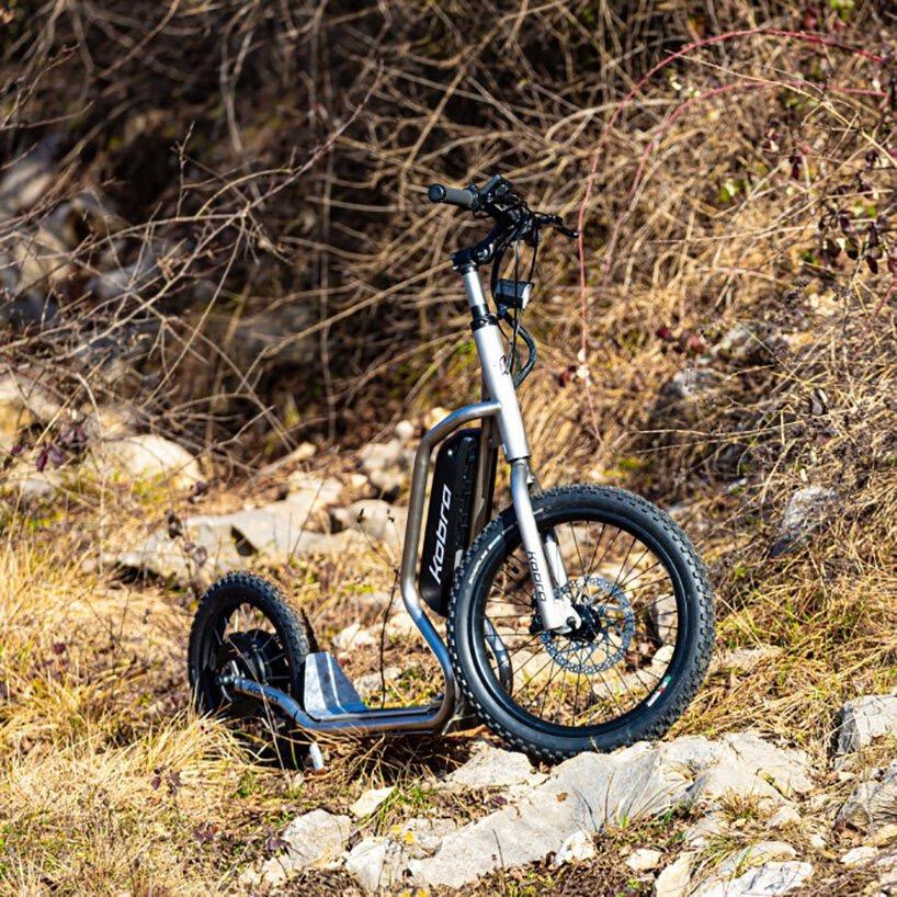 自行车的外形,滑板车的结构,这款电动滑板车据说什么地形都好跑-唯轮网